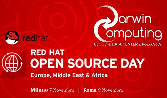 Darwin Computing sarà Gold Partner al Red Hat Open Source Day 2017