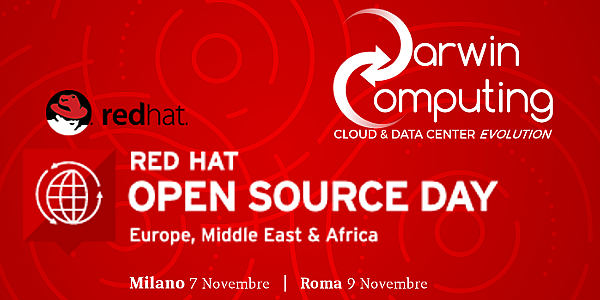 Darwin Computing sarà Gold Partner al Red Hat Open Source Day 2017
