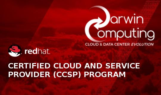 Darwin Computing è Red Hat Certified Cloud and Service Provider (CCSP)
