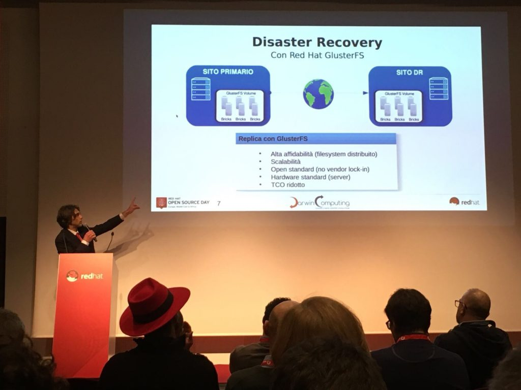 Darwin Computing intervento su Disaster Recovery Red Hat Open Source Day