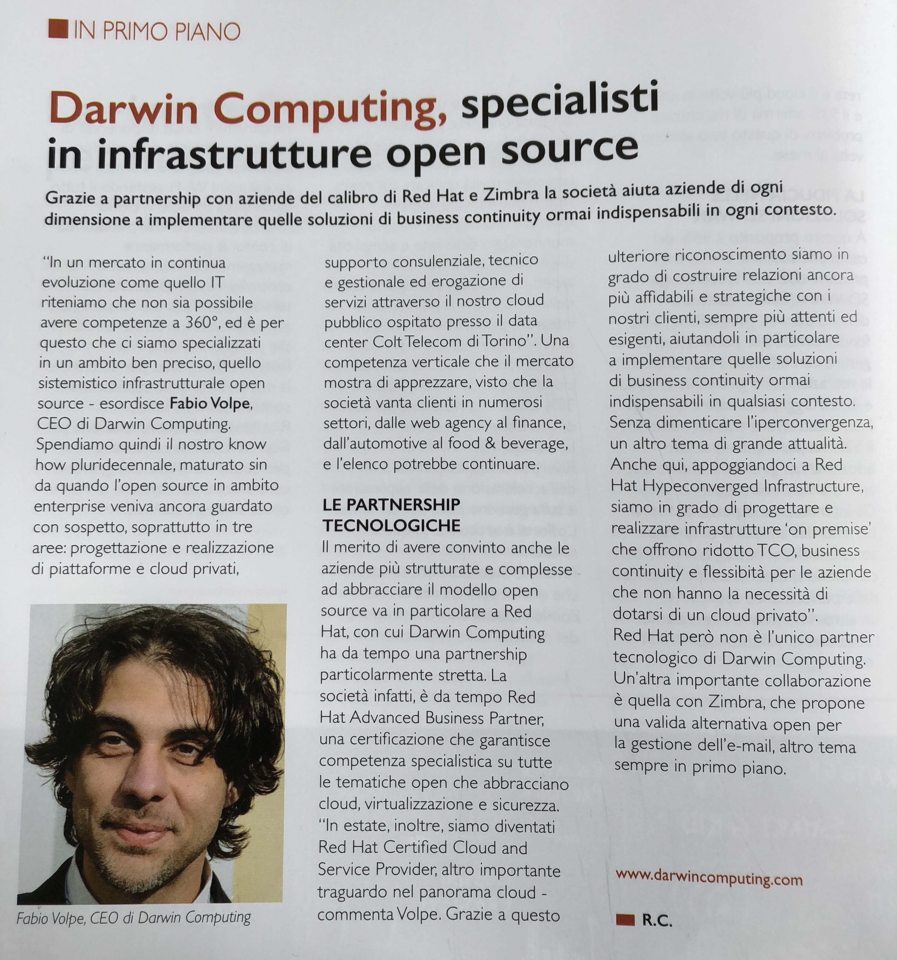 Foto della copetina della rivista
